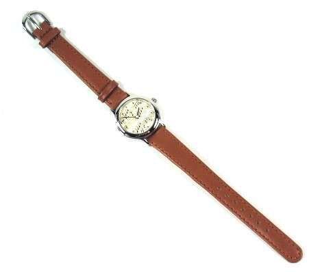 Armbanduhr braun im Notendesign