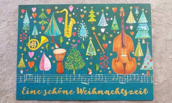 Postkarte eine schöne Weihnachtszeit