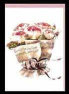 Klappkarte Notenblatt mit Rosen