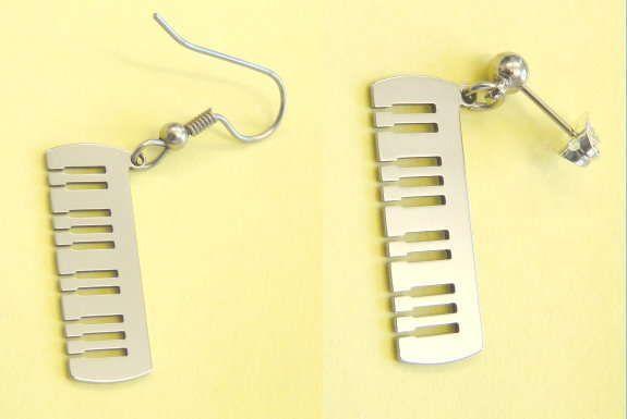 Ohrhänger Keyboard Steel Design