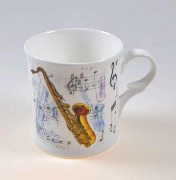 Porzellantasse Saxophon
