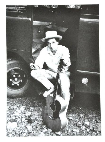 Postkarte Bob Dylan Woodstock 1968