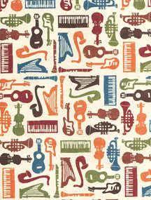 Geschenkpapier Funky Instruments