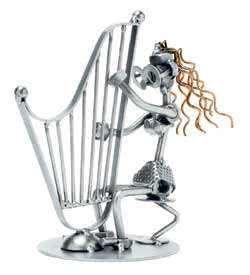 Schraubenmännchen Harfenspielerin