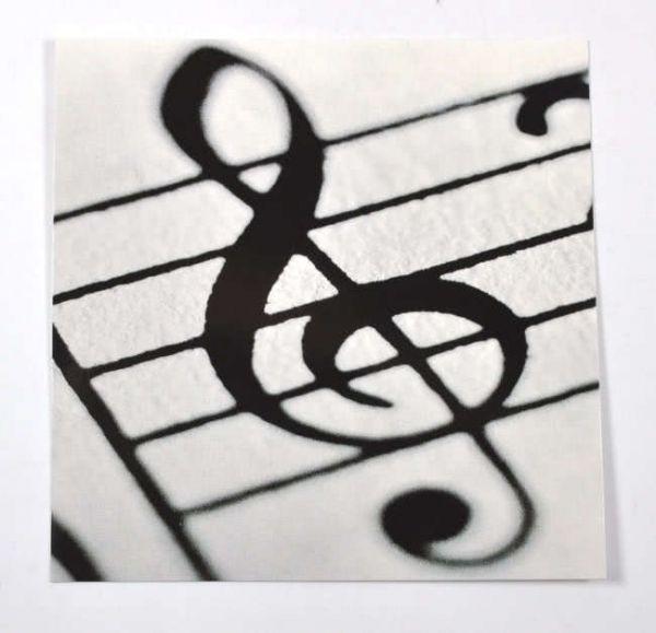 Quadratische Karte Schlüssel zur Musik