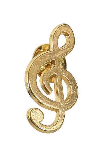 Anstecker Violinschlüssel golden