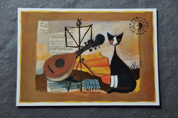 Postkarte Musical Cat Wachtmeister