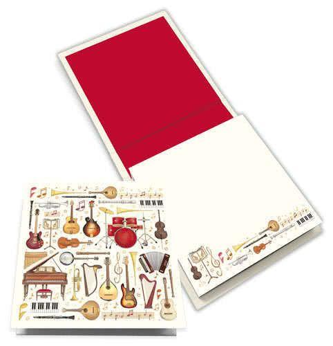 Notizblock Musikinstrumente