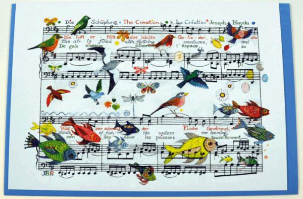 Klappkarte Haydns Schöpfung (Tiere)