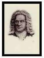 Kunst-Klappkarte Johann Sebastian Bach