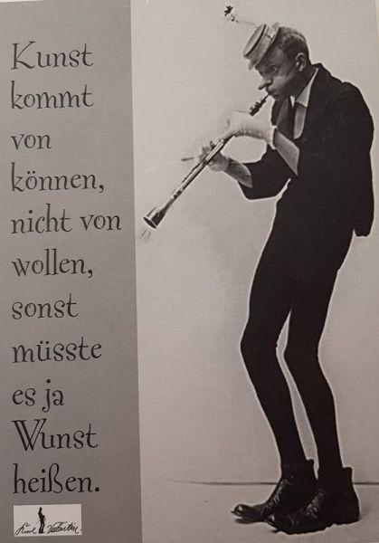 Postkarte Kunst kommt von können... (Karl Valentin)