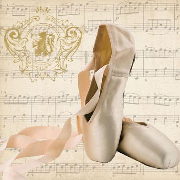 Lunchservietten Concerto Ballet