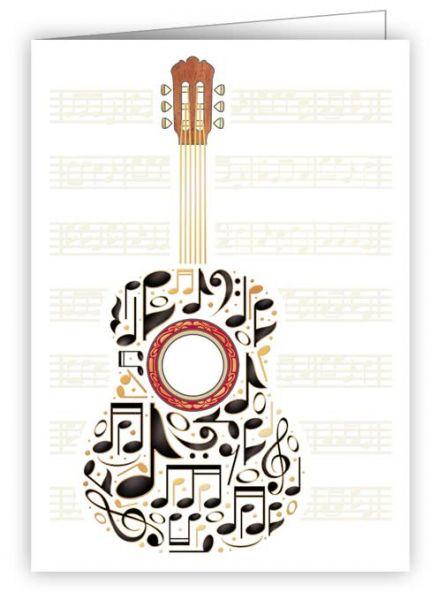 Geschenkanhänger / Minikarte Gitarre