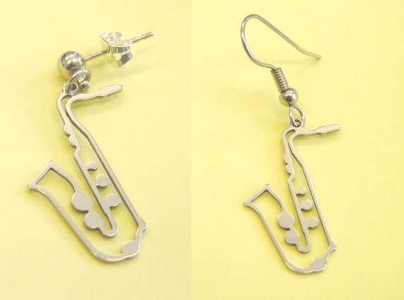 Ohrhänger Saxophon Steel Design