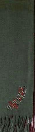 Schal Noten dunkelgrün