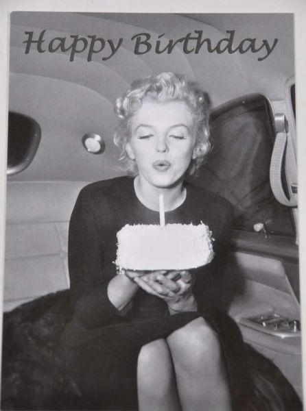 Postkarte Marilyn Monroe Happy Birthday