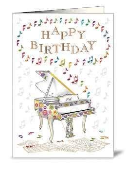 Geburtstagskarte Happy Birthday Piano