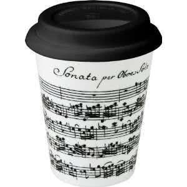 Coffee-To-Go Becher Vivaldi Libretto weiß