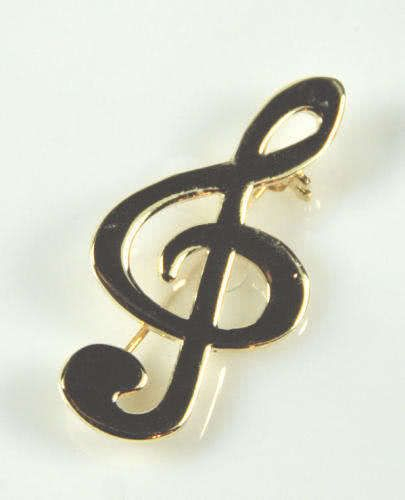 Brosche Einfacher Violinschlüssel