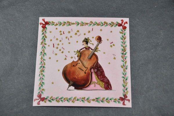 Quadratische Karte Prinzessin am Cello