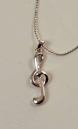 Halskette Violinschlüssel silber