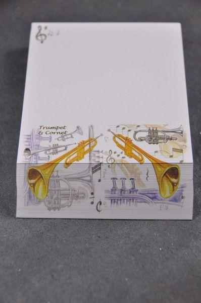 Zettelblock Trompete
