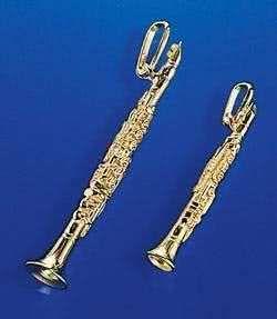 Klarinette als Brosche