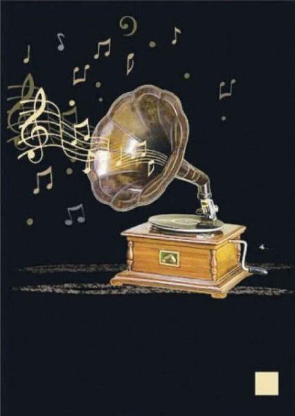 Klappkarte Gramophone