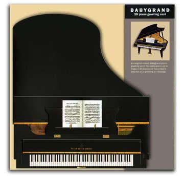 3D Klappkarte Piano