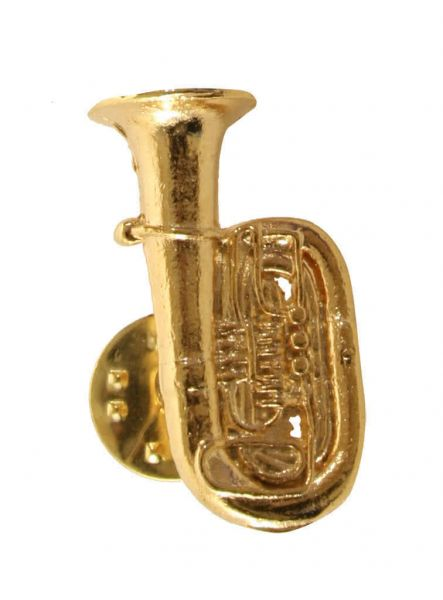 Anstecker Tuba golden