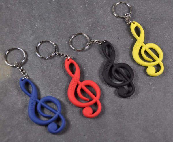 Schlüsselanhänger Notenschlüssel verschiedene Farben