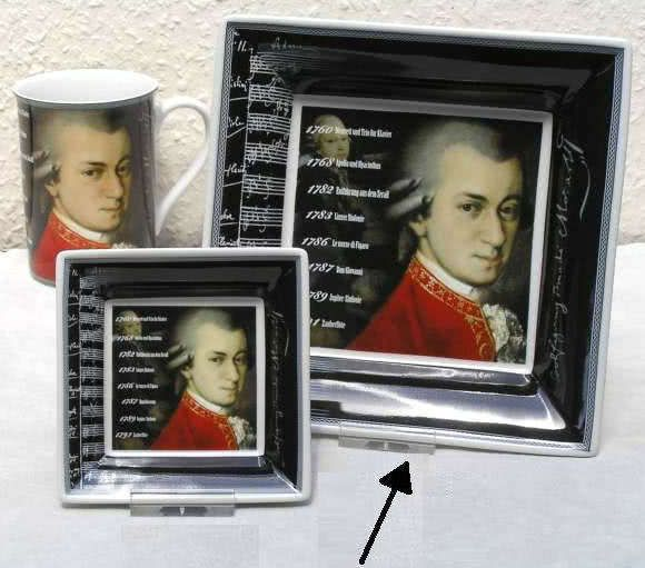 Schale 18x18cm Mozart Biographie