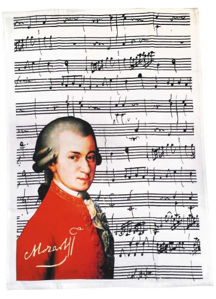 Geschirrtuch Mozart