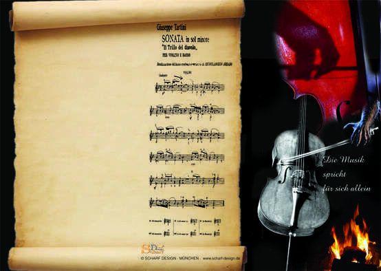 Designer Grußkarte Musik spricht für sich allein