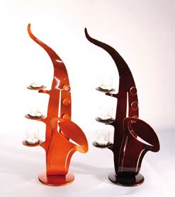 Gilde Dreamlight Leuchter Saxo 3-flammig braun