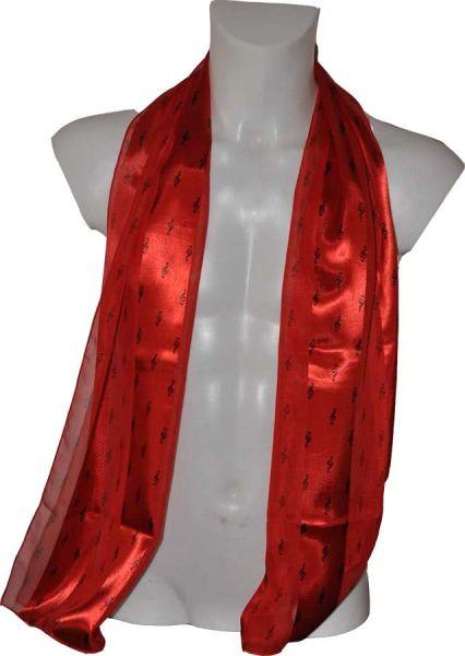 Schal Violinschlüssel rot