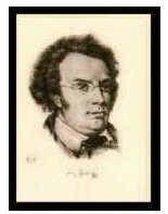 Kunst-Klappkarte Franz Schubert