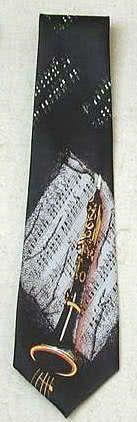 Krawatte Klarinette schwarz