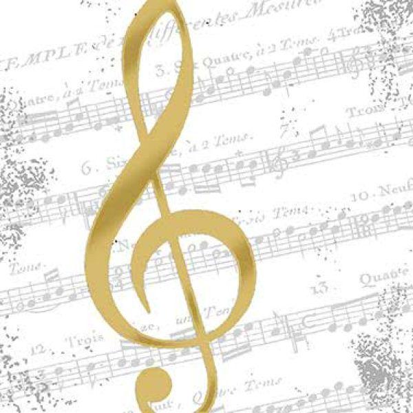 Lunchserviette I love Music