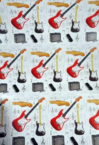 Geschenkpapier E-Gitarren