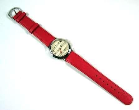 Armbanduhr rot im Notendesign