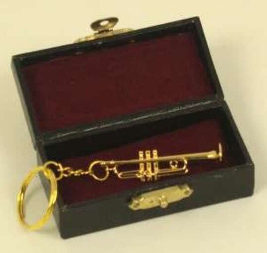 Schlüsselanhänger Trompete 7cm