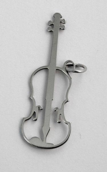 Anhänger Violine Steel Design