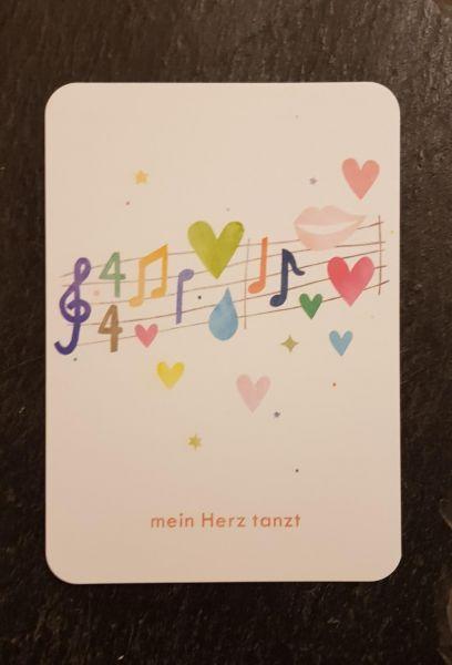 Postkarte mein Herz tanzt