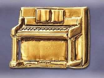 klavier anstecker vergoldet