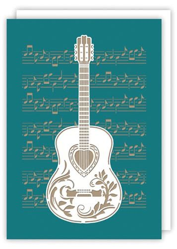 "Klappkarte ""Art Guitar"""