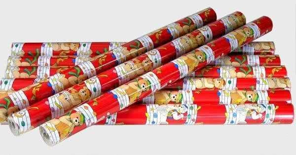Geschenkpapier Musikbärchen Mehrfarbig rot