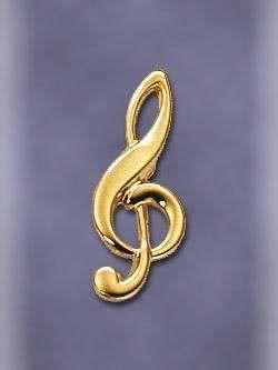 Anstecker Violinschlüssel klein