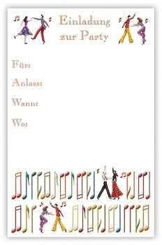 Karten Einladung zur Party