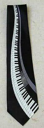 Krawatte Klaviatur schwarz